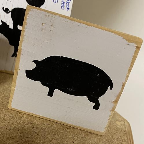 Pig wood block