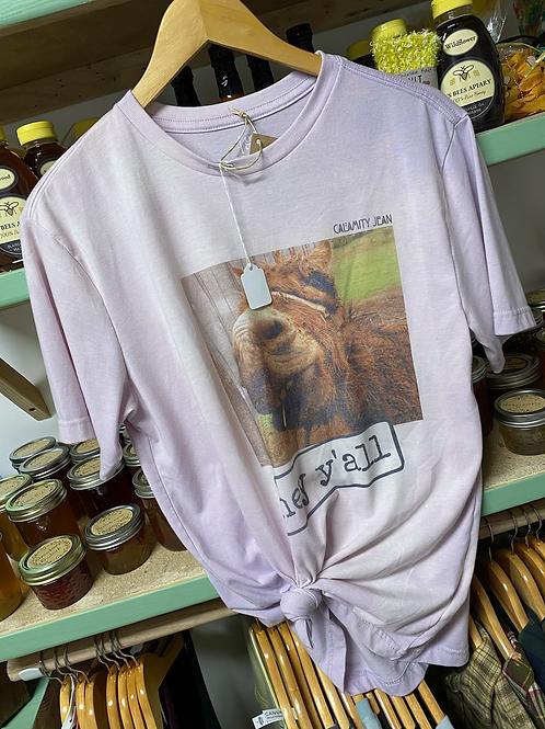 Pink donkey Hey Y'all T-Shirt