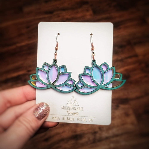 Lotus acrylic earrings