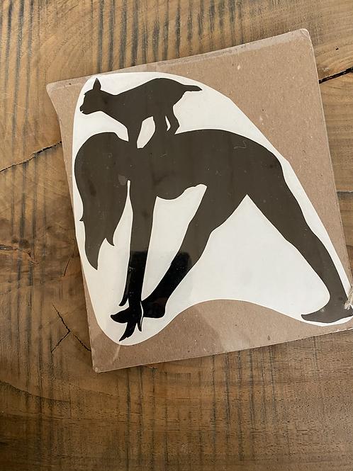 Goat yoga medium decal