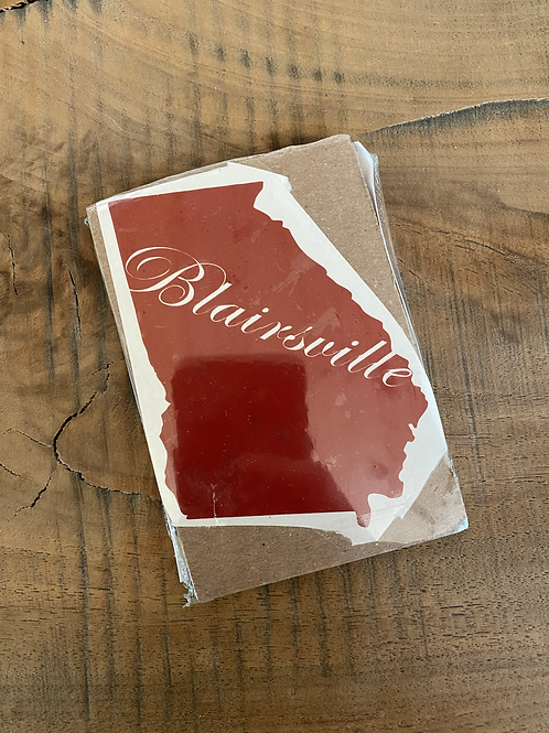 Blairsville small red decal