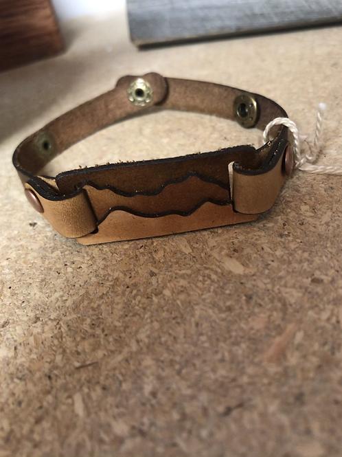Small Leather Mountain Bracelet