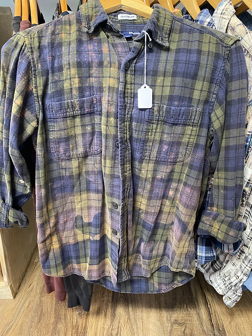 Goat and chicken bleached flannel