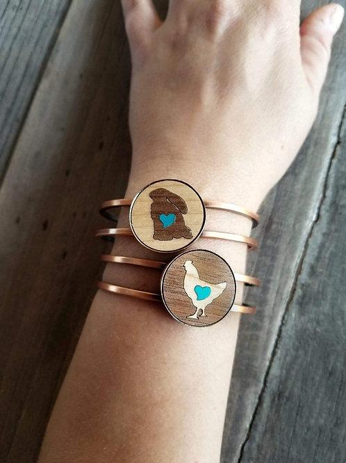 Bunny cuff bracelet