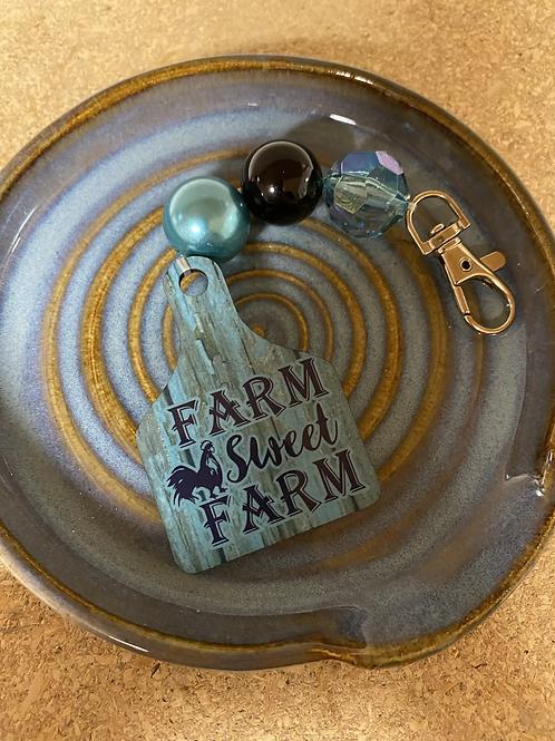Farm Sweet Farm keychain