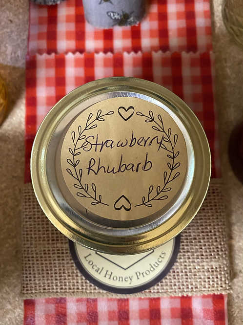 Strawberry Rhubarb jelly 4 oz