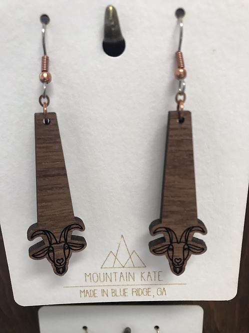 Goat dangle earrings