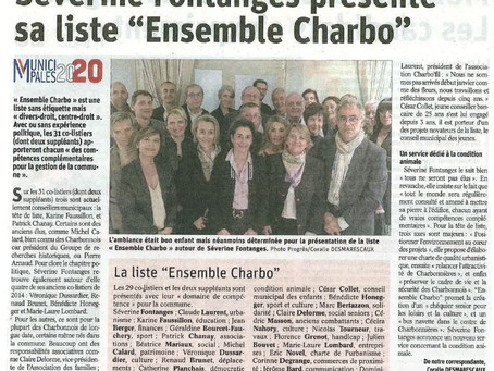 Séverine Fontanges présente sa liste Ensemble Charbo 2020