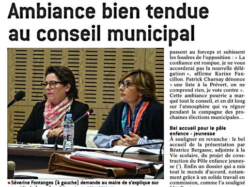 Séance houleuse au Conseil Municipal de Charbonnières