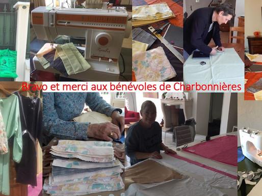 BRAVO et MERCI aux professionnels de santé et aux bénévoles de Charbonnières