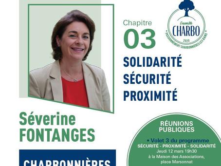 Troisième chapitre du programme de campagne de Séverine Fontanges et son équipe