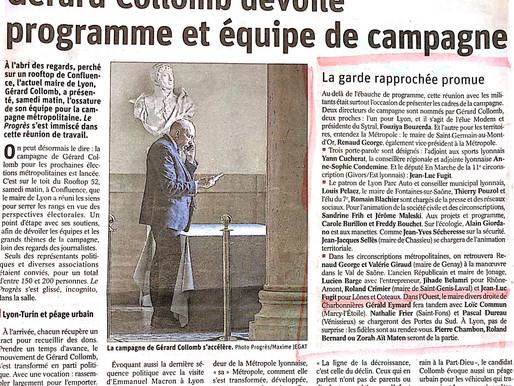 Le Maire de Charbonnières s'aligne derrière Gérard Collomb