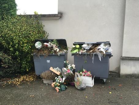 Triste cimetière à Charbonnières