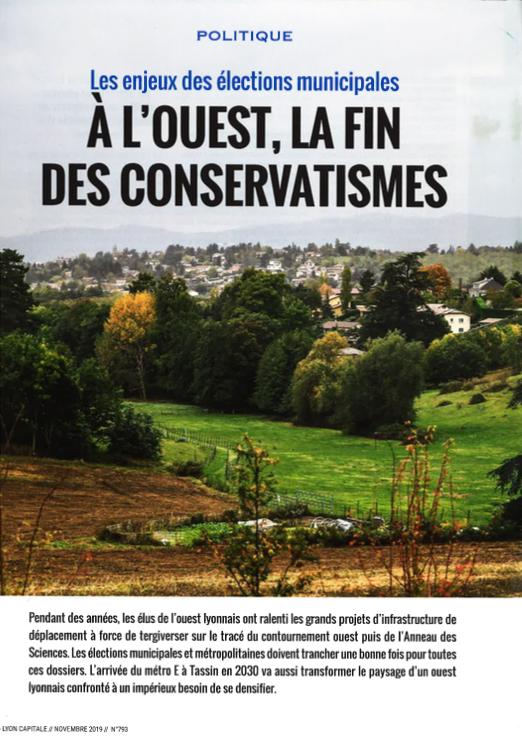 Dossier paru dans Lyon Capitale - novembre 2019