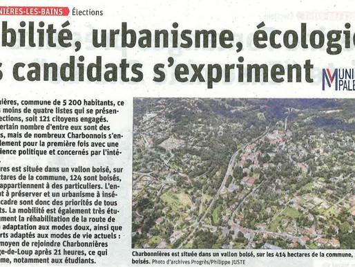 Mobilité, urbanisme, écologie : les candidats de Charbonnières s'expriment