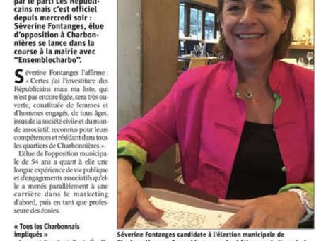 """Séverine Fontanges annonce sa candidature avec """"Ensemble Charbo 2020"""""""