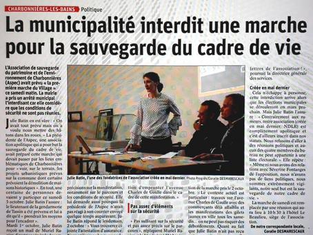 """Que révèle l'interdiction par la municipalité de """"La marche du village"""" ?"""