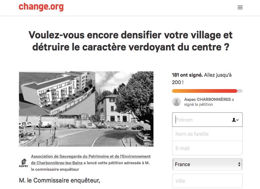 petition spec charbonnieres