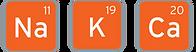 Sodium, Potassium and Calcium icons