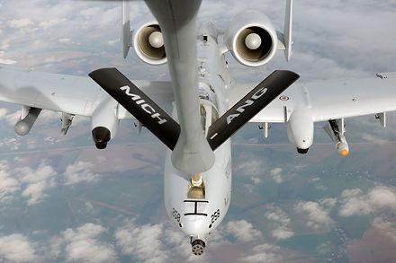 KC-135 Stratotanker refueling A-10 Thunderbolt II