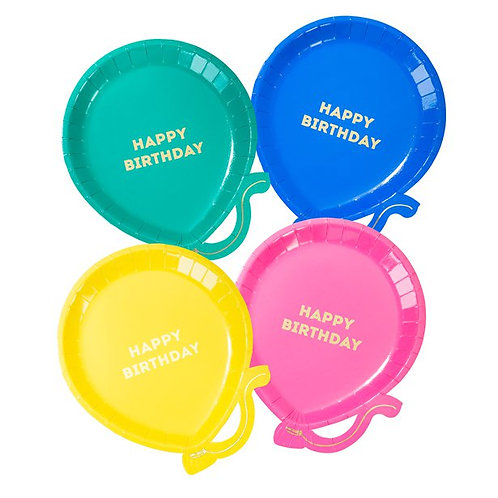 Colour Pop Balloon Plates