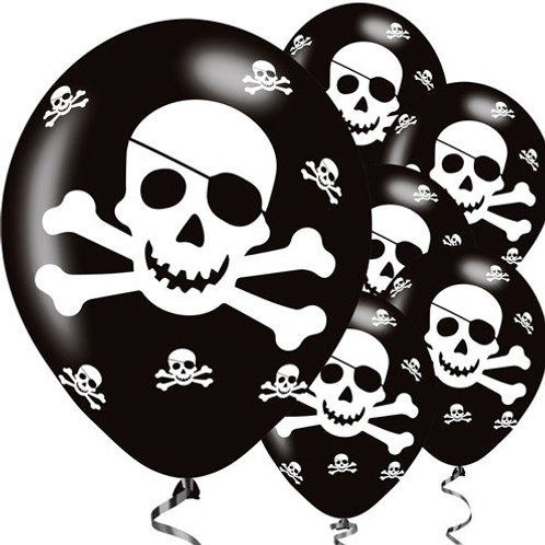 Pirate Skull and Crossbones Balloons