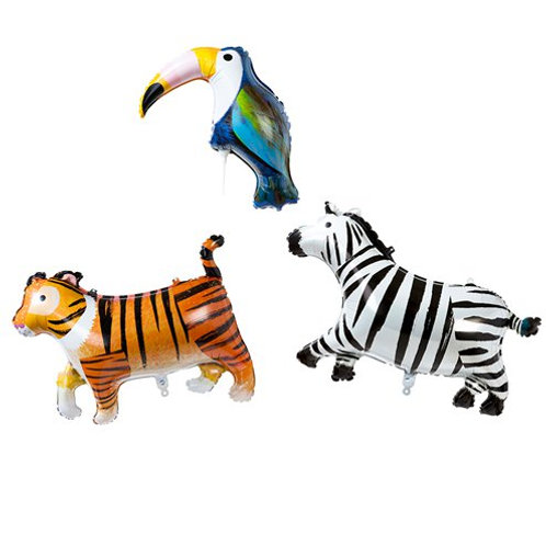 Foil Balloon Stick Animals (3pk)