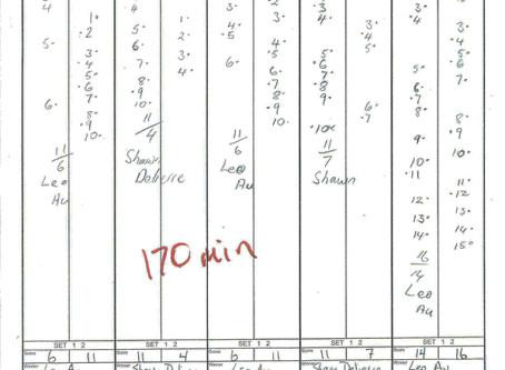 Longest Match Scoresheet