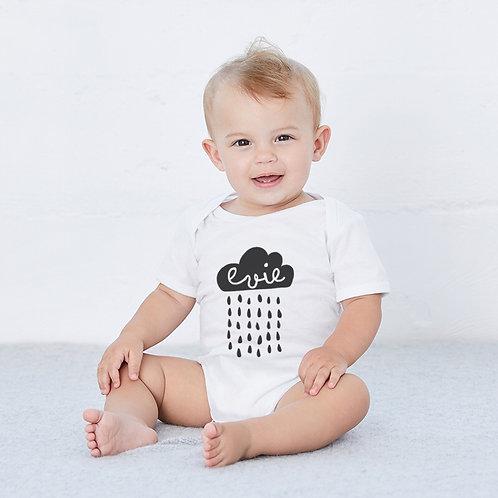 Personalised Rain Cloud Baby Vest