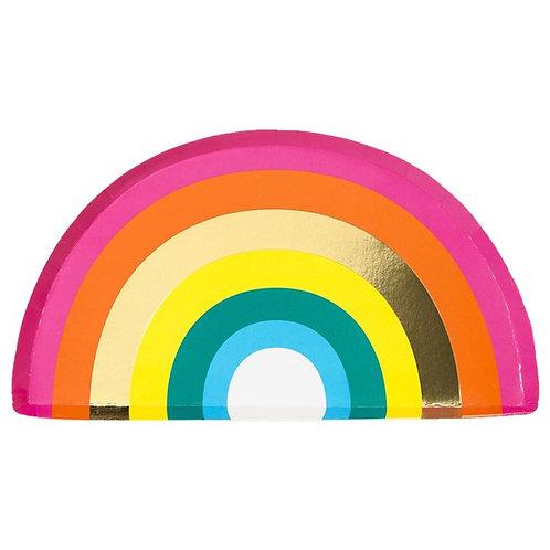 Rainbow Party Plates (12pk)
