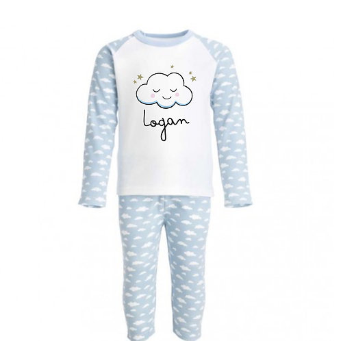 Children's Personalised Cloud Pyjamas