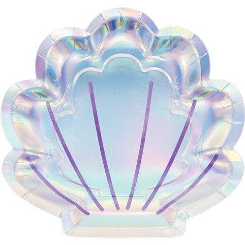 Iridescent Shell Plates (8pk)