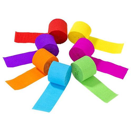 Rainbow Paper Streamers (7pk)