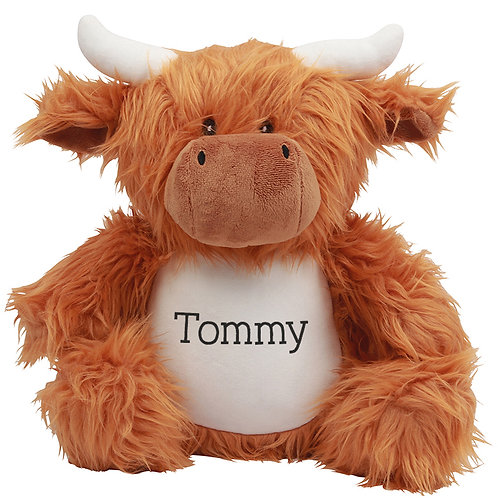 Personalised Highland Cow Soft Toy