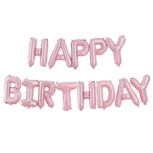 """Happy Birthday"" Balloon Bunting"