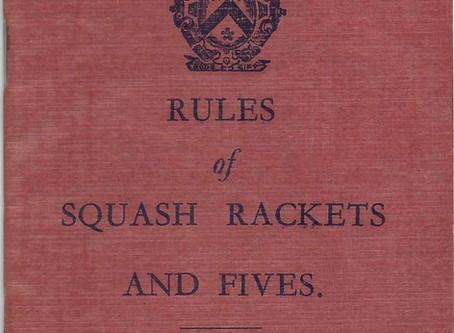 Rules of Squash 1930