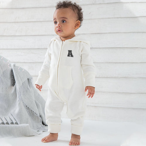 Personalised Varsity Baby Onesie