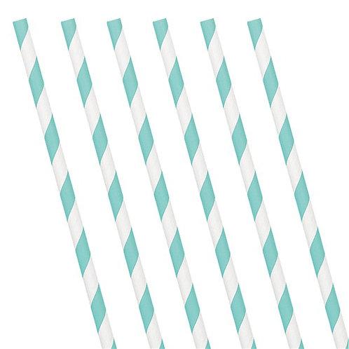 Mint Paper Straws