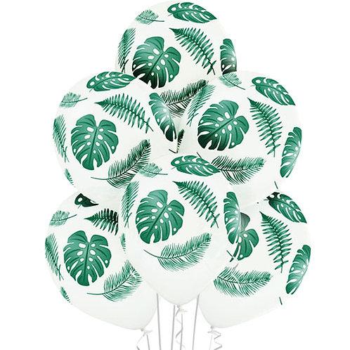 "12"" Tropical Leaves Latex Balloons (6pk)"