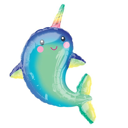 """Narwhal Supershape Balloon 39"""""""