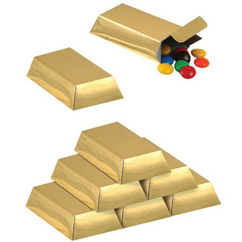 Gold Bar Treat boxes