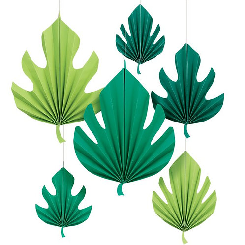 Hanging Tropical Leaf Decorations