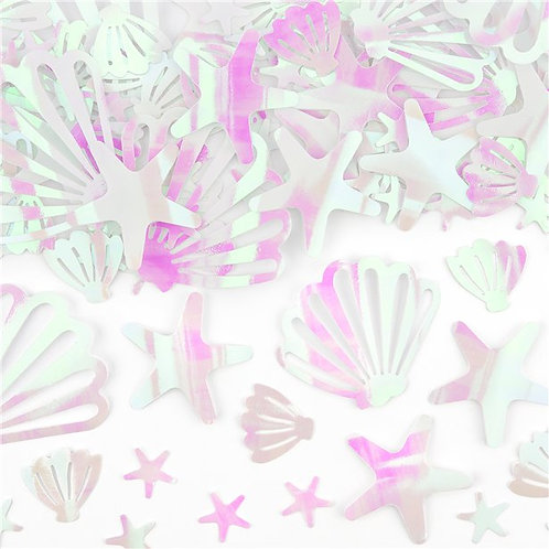 Iridescent Shell Table Confetti