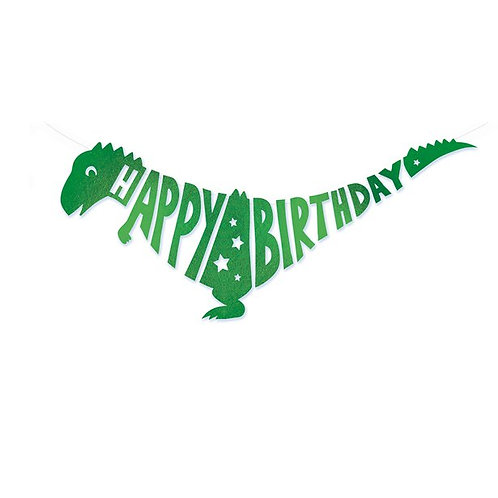 Dino Happy Birthday Banner
