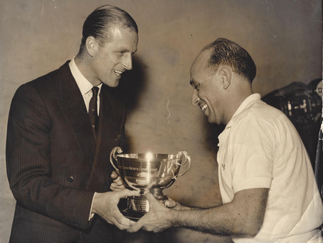 H.R.H Prince Philip was President of the British Squash Rackets Association