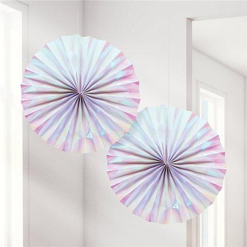 Iridescent Pinwheel Fan Set (2pk)