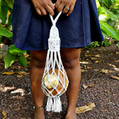 Macramé Shopping Bag: Plastic-free shopping for bread or fruits and vegetables