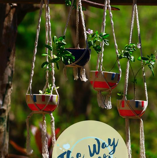 The Way Crafts - Macramé Plant Holder Se