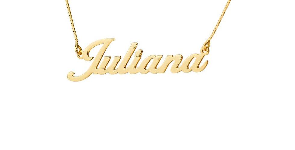 Gargantilha de Ouro com Nome Personalizado (8 Letras)