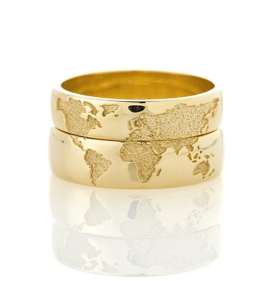 Imagem que o casal mostrou em nossa loja, pedindo um par de alianças de ouro com este acabamento personalizado